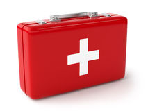 First aid kit. 3d illustration of first aid kit. Isolated on white background Royalty Free Stock Photos