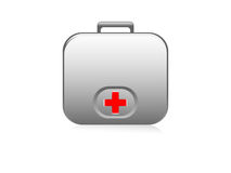 First-aid kit. On isolated background royalty free illustration