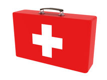 First aid kit. Concept isolated on white Royalty Free Stock Photos
