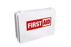 First Aid Kit. First aid for the injured Stock Photography