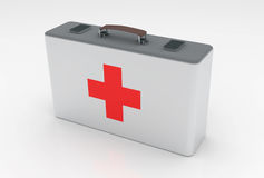 First aid kit. Concept isolated on white Royalty Free Stock Images