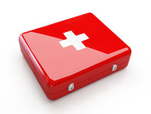 First aid kit. Isolated on white background Stock Photos