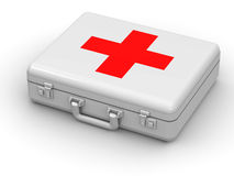 First aid kit. 3d Very beautiful three-dimensional illustration Royalty Free Stock Images