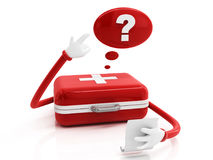 First aid kit and answer concept Stock Images