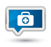 First aid kit bag icon prime blue banner button. First aid kit bag icon isolated on prime blue banner button abstract illustration Royalty Free Stock Photos