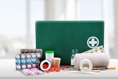 First Aid Kit Stock Photo
