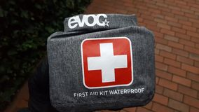 First Aid Kit. A First Aid kit for biking Stock Image