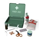 First aid kit box Royalty Free Stock Photography