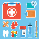 First aid kit box Royalty Free Stock Images