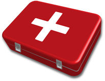 First aid kit box vector. First aid kit box designed by illustrator Royalty Free Stock Photos
