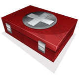 First aid kit box. Vector illustration of First aid kit box Royalty Free Stock Photo