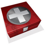 First aid kit box. Vector illustration of First aid kit box Stock Photography