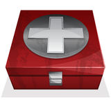 First aid kit box. Vector illustration of First aid kit box Stock Photos