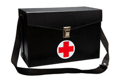 First aid kit box in white background or isolated background, Emergency case used aid box for support medical service Stock Photography