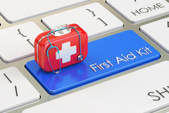 First Aid Kit button on keyboard, 3D. Rendering Stock Images