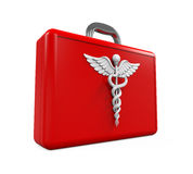 First Aid Kit with Caduceus Symbol Royalty Free Stock Photos