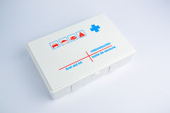First aid kit for a car or camping Royalty Free Stock Photos