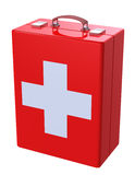 First aid kit case. First aid kit concept isolated on white Stock Images