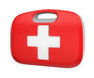 First aid kit case with clipping path Stock Images