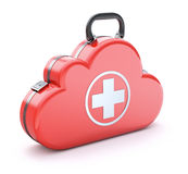 First aid kit in the cloud stock illustration