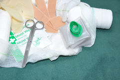 First Aid Kit Contents Stock Image