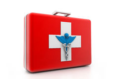 First aid kit. 3d illustration of First aid kit Stock Photography