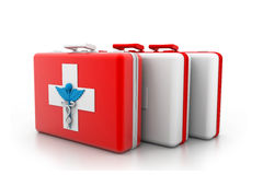 First aid kit. 3d illustration of First aid kit Royalty Free Stock Image