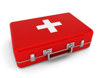 First aid kit. 3d illustration on white background Stock Photo