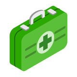 First aid kit 3d isometric icon Royalty Free Stock Photos