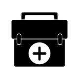 First aid kit emergency equipment pictogram. Vector illustration eps 10 Stock Photo