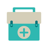 First aid kit emergency equipment. Vector illustration eps 10 Royalty Free Stock Image