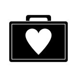 First aid kit emergency heart care pictogram. Vector illustration eps 10 Stock Image