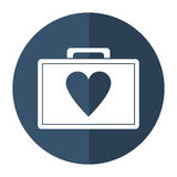First aid kit emergency heart care shadow. Vector illustration eps 10 Stock Images