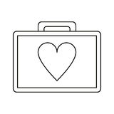 First aid kit emergency heart care thin line Royalty Free Stock Photography