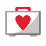 First aid kit emergency heart care. Vector illustration eps 10 Royalty Free Stock Photo