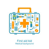 First aid kit in hands doctor Stock Photo