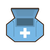First aid kit healthcare medical. Illustration eps 10 Royalty Free Stock Photography
