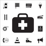 First aid kit icon. Detailed set of fire guard icons. Premium quality graphic design sign. One of the collection icons for website. S, web design, mobile app on Stock Images