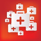 First aid kit icon Stock Photo