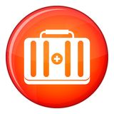 First aid kit icon, flat style Royalty Free Stock Image