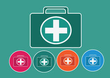 First aid kit icon. An images of First aid kit icon Stock Images