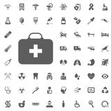 First aid kit icon. Medical and Hospital Icon vector Set. Royalty Free Stock Image