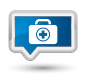 First aid kit icon prime blue banner button. First aid kit icon isolated on prime blue banner button abstract illustration Royalty Free Stock Photography