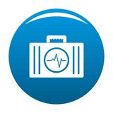 First aid kit icon vector blue. First aid kit icon. Simple illustration of first aid kit vector icon for any design blue Royalty Free Stock Photos
