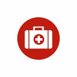 First Aid Kit icon vector design Stock Photography
