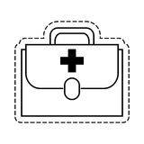 First aid kit. Icon vector illustration graphic design Royalty Free Stock Photos