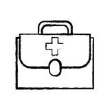 First aid kit. Icon vector illustration graphic design Royalty Free Stock Images