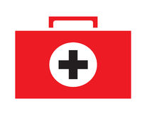 First aid kit icon vector isolated white background. Medical icons Royalty Free Stock Images