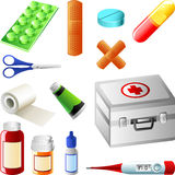 First aid kit. Icons Royalty Free Stock Photography