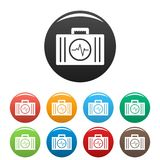 First aid kit icons set color vector. First aid kit icon. Simple illustration of first aid kit vector icons set color isolated on white Royalty Free Stock Photography